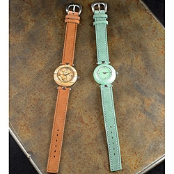 Peyote Bird Designs Women's Stone and Suede Watch