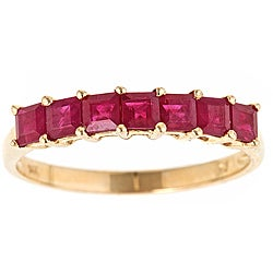 D'Yach 14k Yellow Gold Ruby Classic Ring
