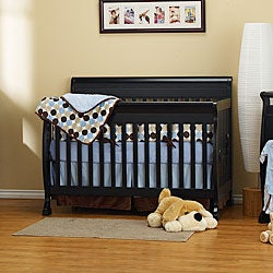 DaVinci Kalani 4-in-1 Crib with Toddler Rail in Ebony