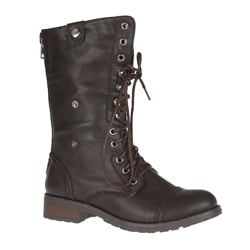Sweet Beauty Women&#39;s &#39;Terra-01&#39; Lace-up Combat Boots