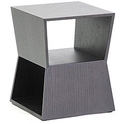 Marche Black Wood Modern End Table
