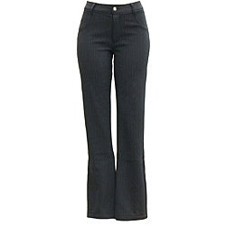 AFRC Women's Petite Stripe Jean Black/ Silver Ski Pants