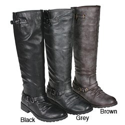 Story Women&#39;s Motorcycle Knee-high Boots