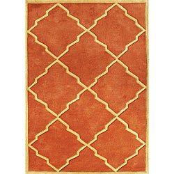 Hand-tufted World Classic Rust Wool Rug (4' x 6')