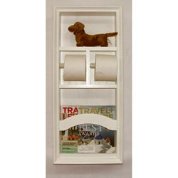 In The Wall Deluxe Magazine Rack Toilet Paper Holder Unit 13858999 Shopping