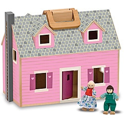 Melissa & Doug Fold and Go Dollhouse Play Set
