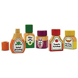 Melissa & Doug Magnetic Kitchen Bottle Collection Play Set