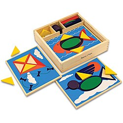 Melissa & Doug Beginner Pattern Blocks Play Set