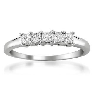 Brides Across America by Montebello 14k White Gold 1/2ct TDW Princess-cut Diamond Wedding Band (G-H, I1)