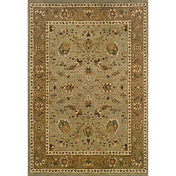 Berkley Green Traditional Area Rug (6'7 x 9'6)