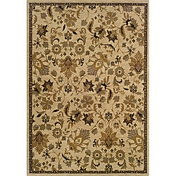 Berkley Beige Transitional Area Rug (5'3 x 7'6)