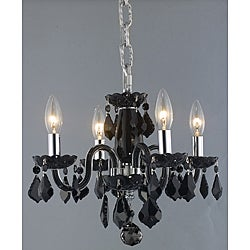 Crystal 4-light Black Chandelier