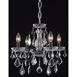 Crystal 4-light Dark Bronze Chandelier