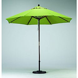 Premium 9-foot Lime Green Patio Umbrella with Base