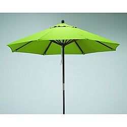 Lauren & Company Premium 9-foot Round Lime Green Wood Patio Umbrella