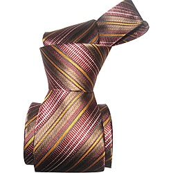 BOT Men's Taupe Striped Tie