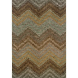 Hayworth Brown/Blue Area Rug (5'3 x 7'6)
