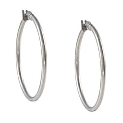 La Preciosa Stainless Steel 2mm Hoop Earrings