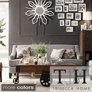TRIBECCA HOME Winslow Concave Arm Modern Sofa