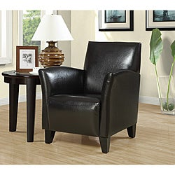 Dark Brown Leather-like Accent Chair