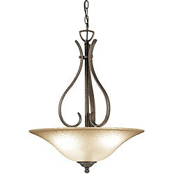Woodbridge Lighting Beaconsfield 3-light Marbled Bronze Pendant Light