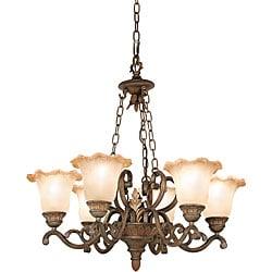 Woodbridge Lighting Elegante 6-light Gothic Bronze Chandelier