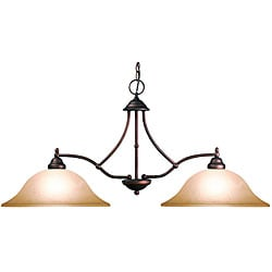 Woodbridge Lighting Anson 2-light Marbled Bronze Island Light Fixture