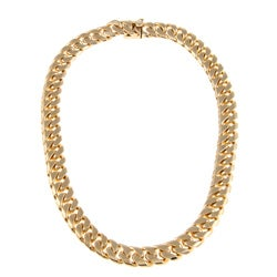 Sterling Essentials 14k Gold over Bronze 18-inch Cuban Link Necklace