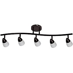 Transitional 5-light Dark Rubbed Bronze Rail