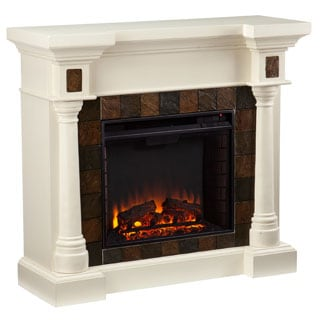 Upton Home Blanchard Ivory Electric Fireplace