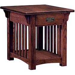 Mission Sienna Drawer End Table