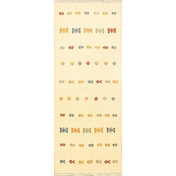 Hand-woven Jalal Tribal Kilim Cream Runner Rug (2'8 x 9'10)