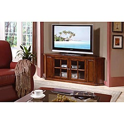 Oak Solid Wood and Veneer 62-inch Corner TV Stand