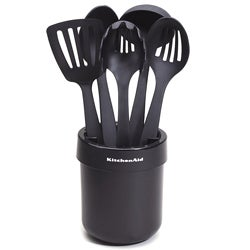 KitchenAid Black Ceramic Crock with Tools