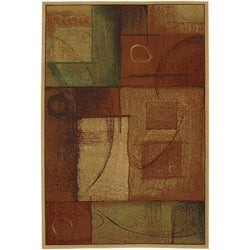 Abstraction Polypropolene/ Olefin Rug (5'3 x 7'10)