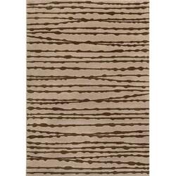 Miramar Grey/ Brown Transitional Area Rug (7'10 x 10')
