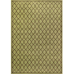 Miramar Green/ Brown Geometric Area Rug (7'10 x 10')