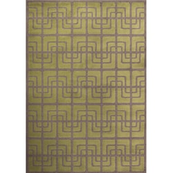 Miramar Green and Grey Area Rug (7'10 x 10')
