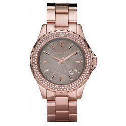 Michael Kors Women's Glitz Rose Goldtone Watch