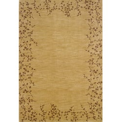 Ellington Beige/Brown Transitional Area Rug (5'3 x 7'6)