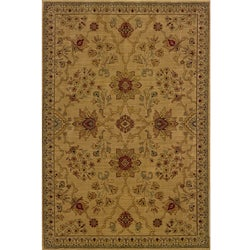 Ellington Beige/Red Traditional Area Rug (3'10 x 5'5)