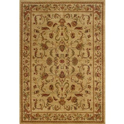Ellington Brown/Red Transitional Area Rug (5'3 x 7'6)