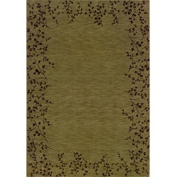 Ellington Green/Brown Transitional Area Rug (5'3 x 7'6)