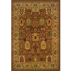 Ellington Rust/Gold Traditional Area Rug (5'3 x 7'6)