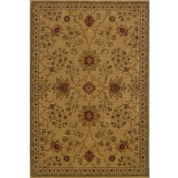 Ellington Beige/Red Traditional Area Rug (5'3 x 7'6)