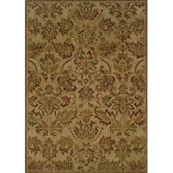 Ellington Beige/Green Transitional Area Rug (6'7 x 9'6)