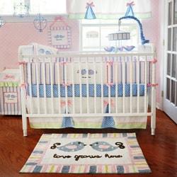 My Baby Sam Love Grows Here 4-piece Crib Bedding Set