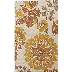 nuLOOM Handmade Floral Wool Rug (7'6 x 9'6)