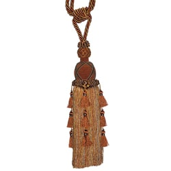 Rust/ Gold Designer Tassel Tiebacks (Set of 2)