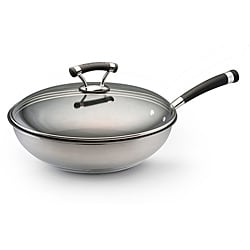 Circulon Contempo Stainless Steel Nonstick 12.5-inch Covered Deep Skillet